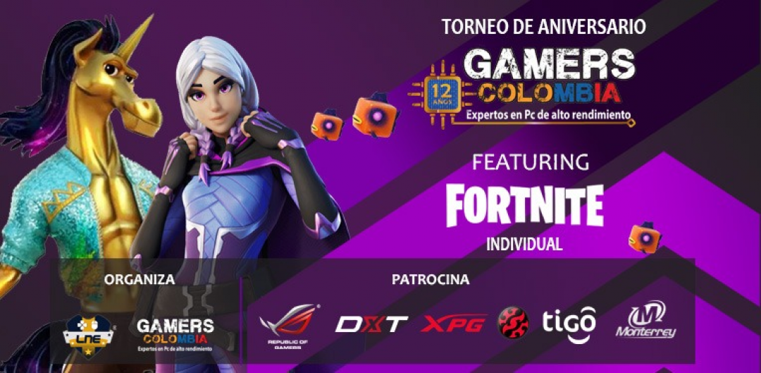 Torneo Fortnite Individual 12 Aniversario - Gamers Colombia