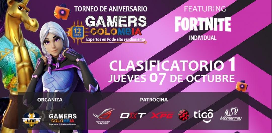 Torneo Fortnite Individual - Jueves 07/10/21 - 12 Aniversario Gamers Colombia