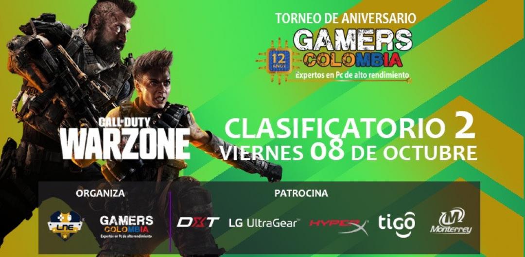 TORNEO WARZONE INDIVIDUAL - VIERNES 08/10/21 - 12 ANIVERSARIO GAMERS COLOMBIA