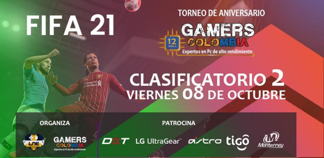 TORNEO FIFA INDIVIDUAL - VIERNES 08/10/21 - 12 ANIVERSARIO GAMERS COLOMBIA