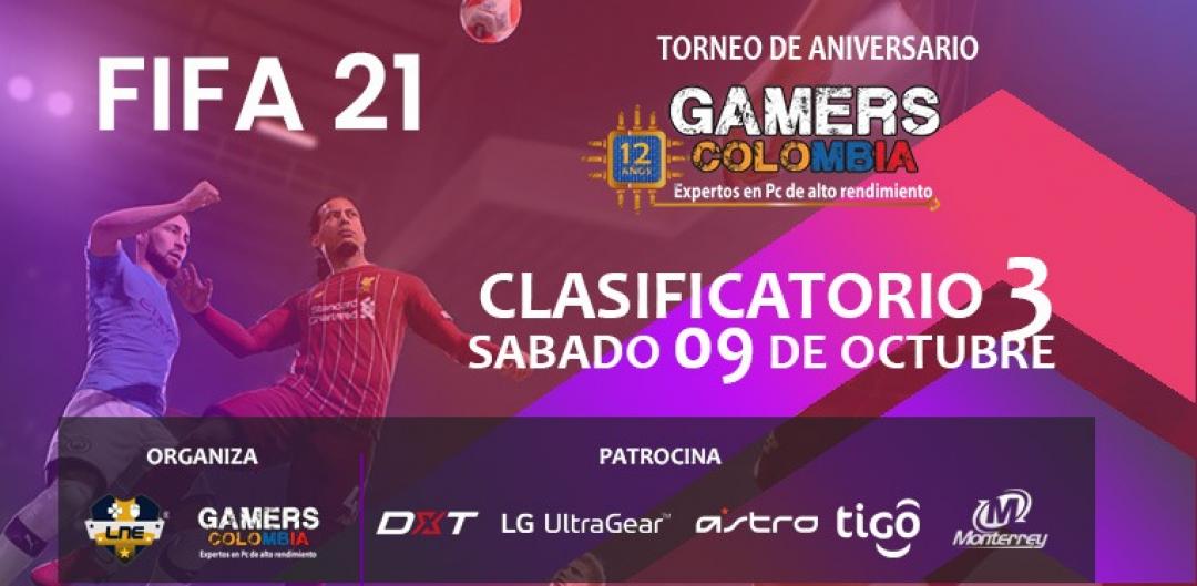 TORNEO FIFA INDIVIDUAL - SÁBADO 09/10/21 - 12 ANIVERSARIO GAMERS COLOMBIA